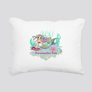 Cute Personalized Mermaid Rectangular Canvas Pillo
